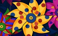 Colorful pinwheels wallpaper 1920x1080 jpg