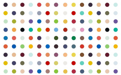 Colorful polka dots wallpaper