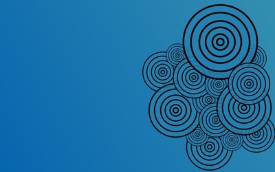 Concentric circles wallpaper