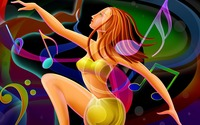 Dancing woman wallpaper 1920x1080 jpg