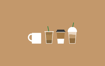 Different coffee types wallpaper