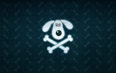 Dog crossbone wallpaper