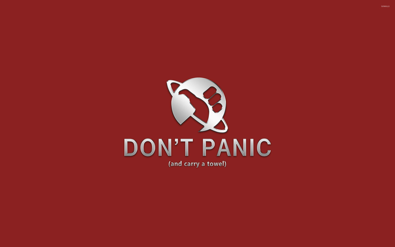Don t panic wallpapers 95 wallpapers art wallpapers - Nerd wallpaper for walls ...