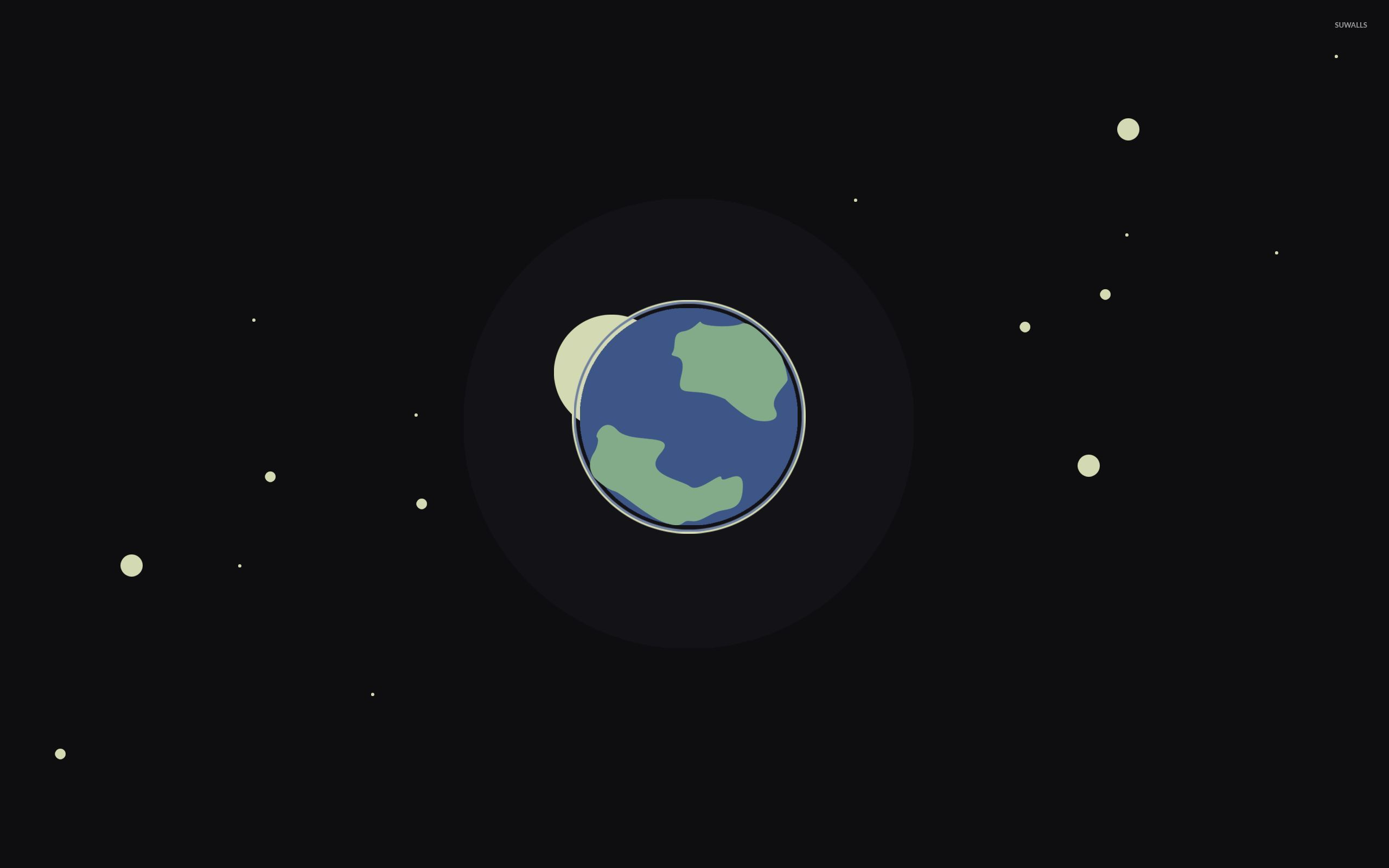 Earth Moon And Stars Wallpaper 2560x1600 Jpg