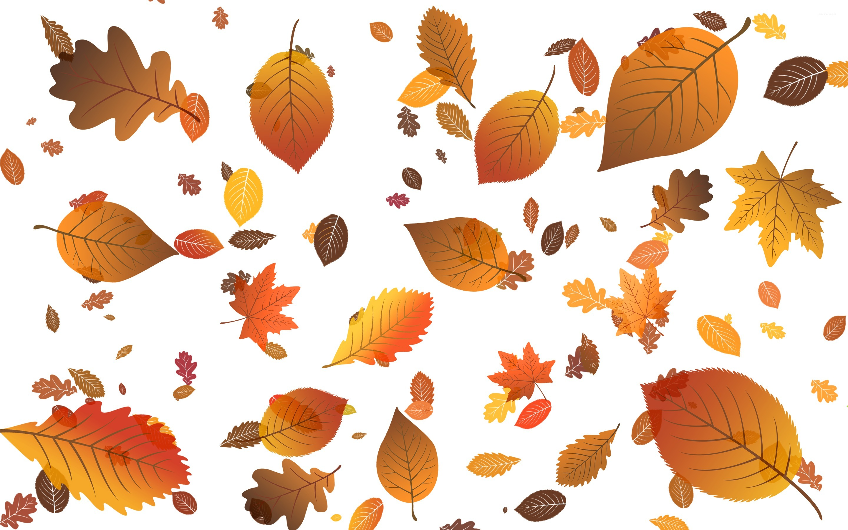 Falling leaves wallpaper