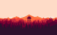 Fire lookout tower wallpaper 1920x1200 jpg