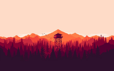 Fire lookout tower wallpaper