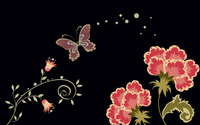 Flowers and butterfly wallpaper 1920x1200 jpg