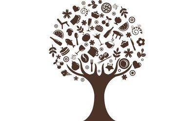Food growing on trees wallpaper