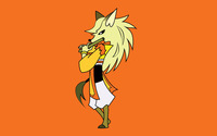 Fox lady with flute wallpaper 1920x1200 jpg