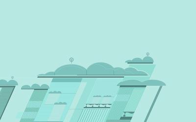Futuristic city [18] wallpaper