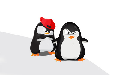 Gangster penguins wallpaper