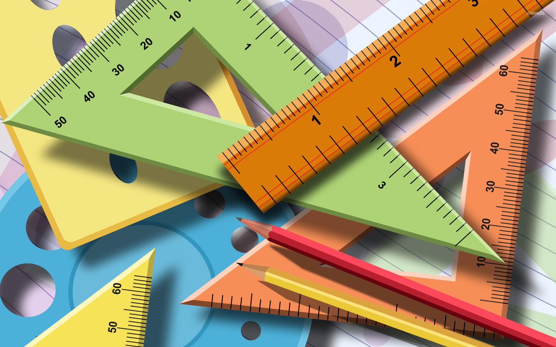 Geometry instruments wallpaper - Vector
