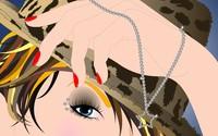 Girl wearing diamonds wallpaper 1920x1080 jpg