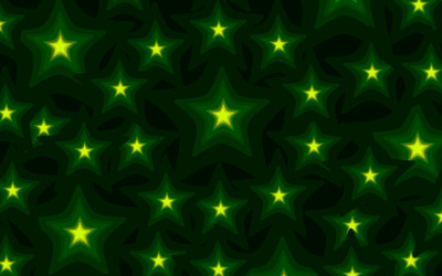 Glowing green stars wallpaper