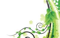Green leaves, swirls and curves wallpaper 1920x1080 jpg