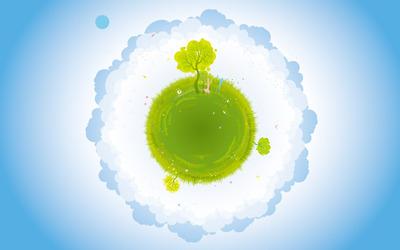 Green planet wallpaper