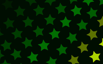 Green stars wallpaper