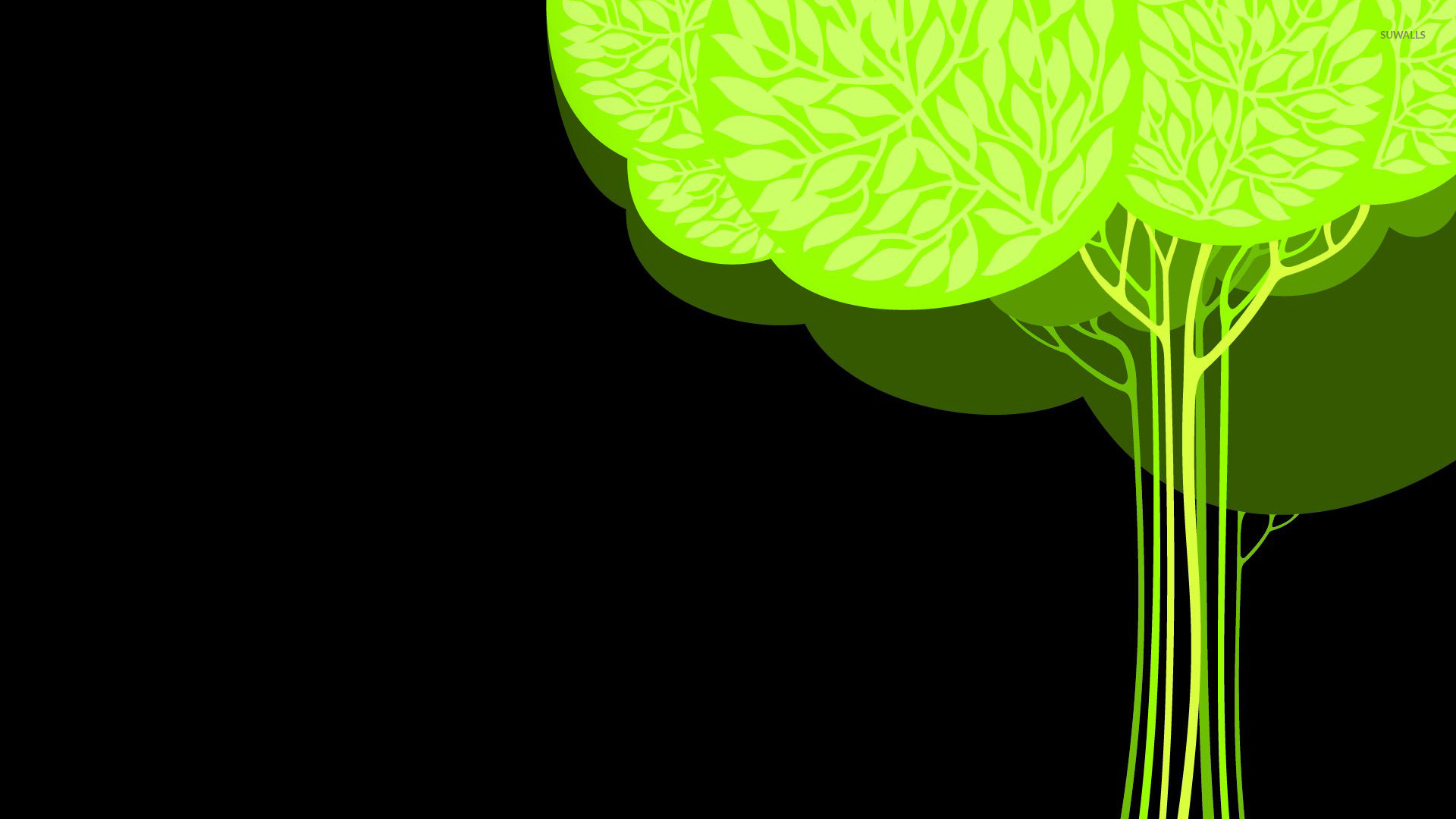 green tree 3 wallpaper vector wallpapers 20224