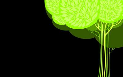 Green tree [3] wallpaper