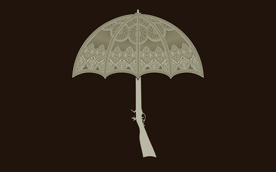 Gun Umbrella wallpaper