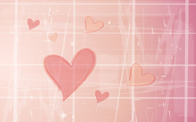Hearts in a grid wallpaper