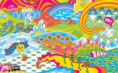 Hippie trip wallpaper
