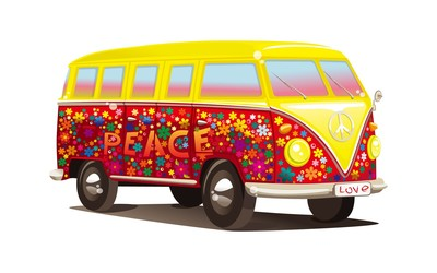 Hippie Volkswagen bus wallpaper
