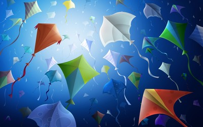 Kites wallpaper