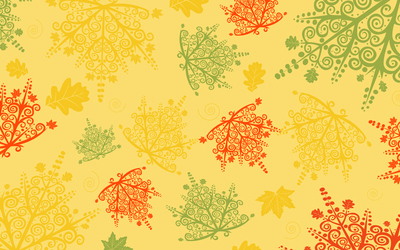 Lace autumn leaves Wallpaper