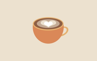 Latte art wallpaper