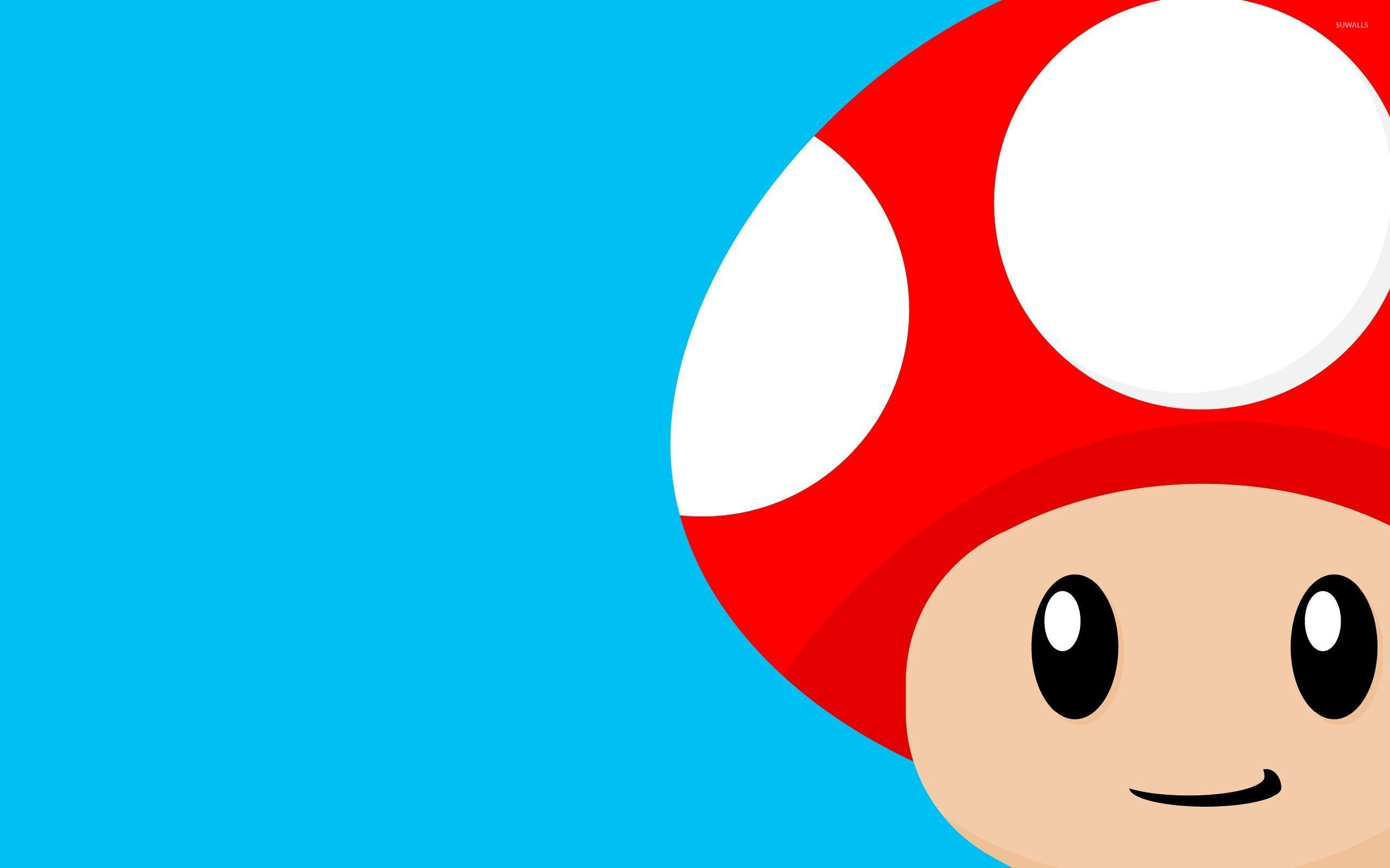 Mario Mushroom 2 Wallpaper