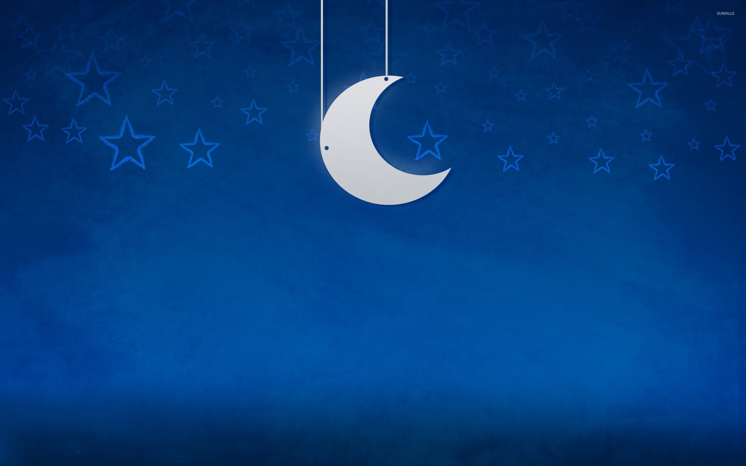 Moon And Stars 2 Wallpaper Vector Wallpapers 22060