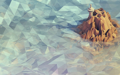 Mosaic mountain wallpaper