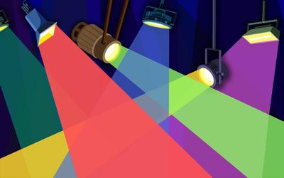 Multicolored reflector lights wallpaper