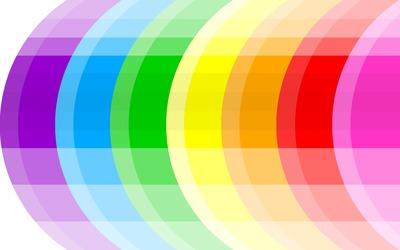 Multicolored rings wallpaper