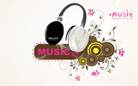 Music headphones wallpaper 1920x1200 jpg