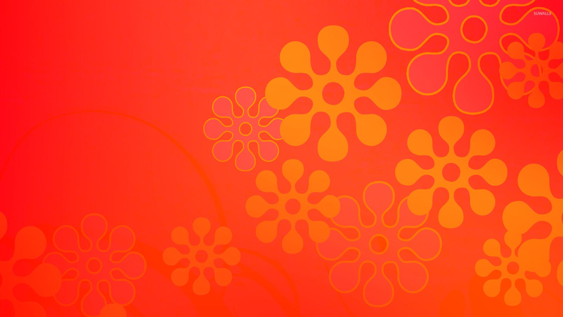 Free Orange Flowers wallpaper x