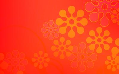 Orange flowers wallpaper