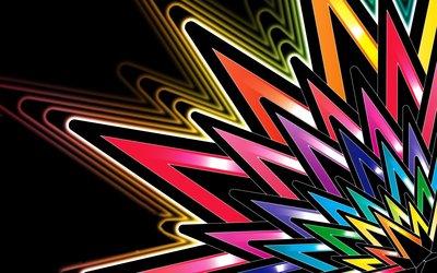 Neon stars wallpaper