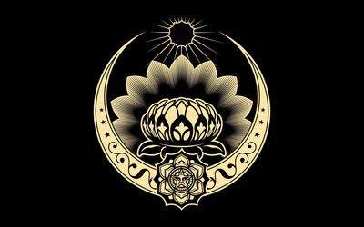 Obey - Lotus Ornament wallpaper