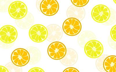 Orange and lemon slices wallpaper