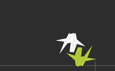 Origami cranes [2] wallpaper