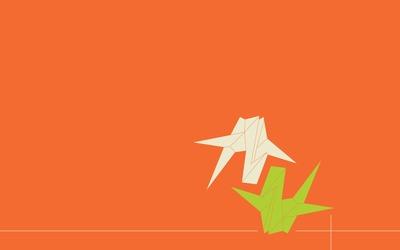 Origami cranes [4] wallpaper