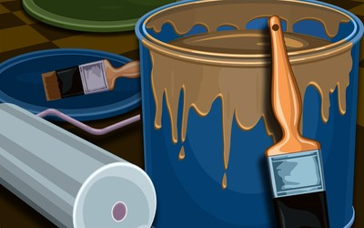 Painting instruments wallpaper
