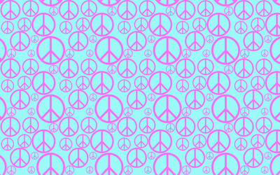 Peace symbol pattern wallpaper