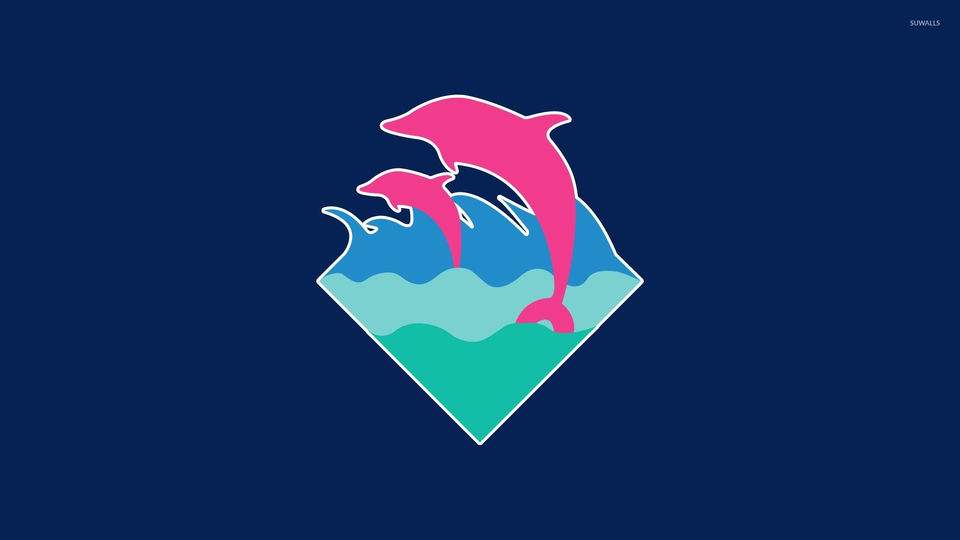 Pink Dolphin Wallpaper Pink dolphins swimming...