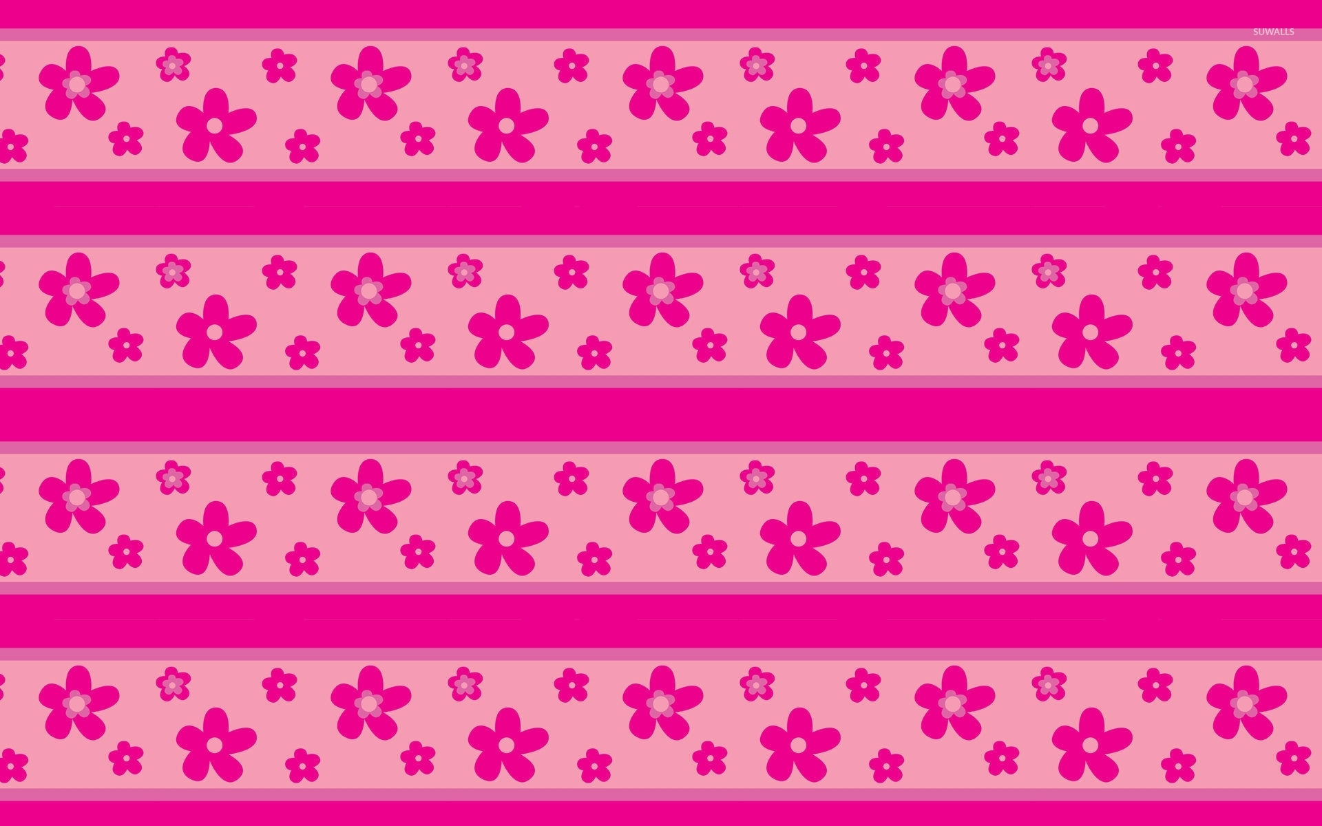 Pink Flower Pattern Wallpaper Vector Wallpapers 51365