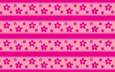 Pink flower pattern wallpaper