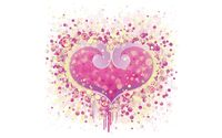 Pink heart made of circles wallpaper 1920x1200 jpg